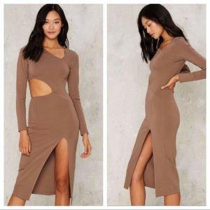 🌟Nasty Gal Side to Side Cutout Ponte Dress SMALL